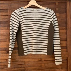Stripe crop comfy sweater
